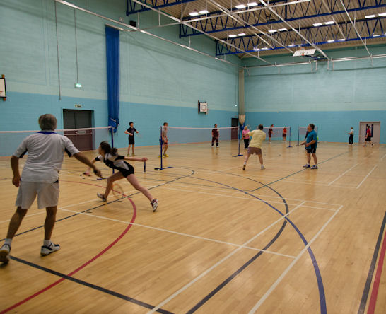 Mereway Badminton Club Northampton Play at The Wooldale Centre for Learning in Wootton, Northampton